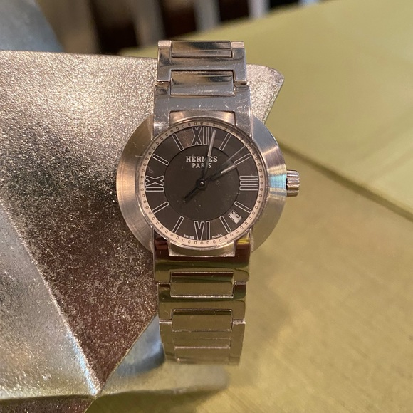 HERMES NOMADE WATCH STAINLESS STEEL 26mm
